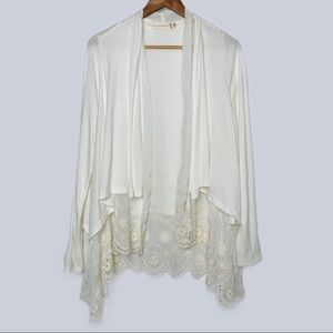 Johnny Was 4 Love & Liberty Ivory Eyelet Layer Top